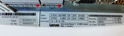 LENZE EVS9321-EI Id-No. 00424223 Servoumrichter -used- – Bild 3