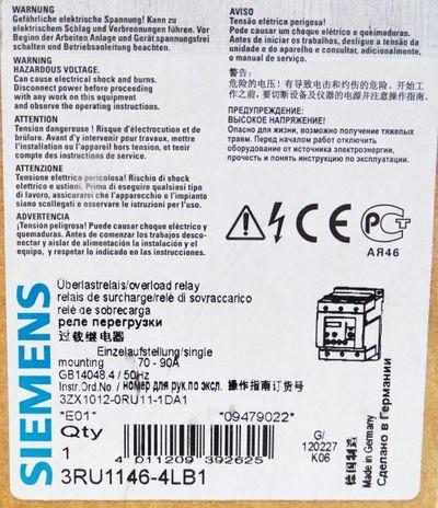 Siemens Sirius 3RU1146-4LB1 E: 01 - unused - in OVP – Bild 2