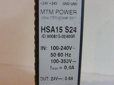 MTM POWER HSA15 S24 ID:900815-02400R -unused- – Bild 2