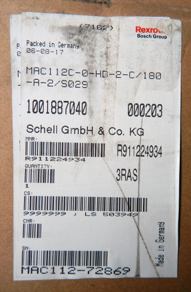 Rexroth Servomotor MAC112C-0-HD-2-C/180-A-2/S029   - unused/OVP - – Bild 3