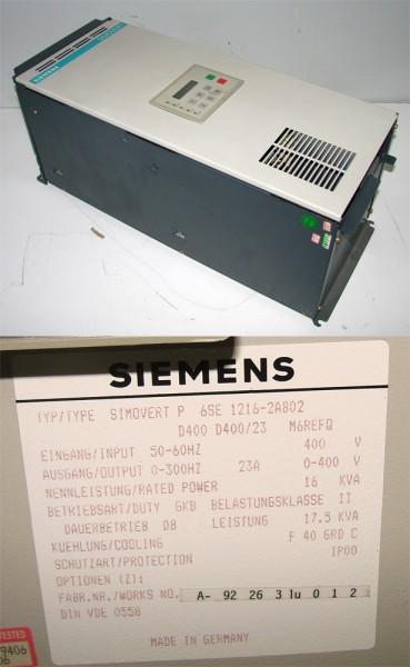 Siemens Simovert 6SE1216-2AB02  6SE1 216-2AB02