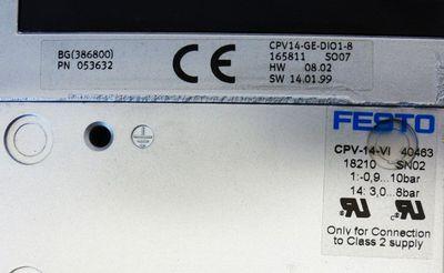 FESTO CPV14-GE-DIO1-8 + DPV-14VI + CPV14-VI-P1/8-B + 1x S402 + 7x SN02 -used- – Bild 2