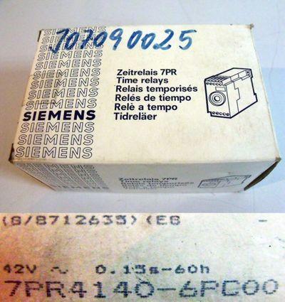 Siemens 7PR4140-6PC00 Zeitrelais 7PR -unused/OVP-