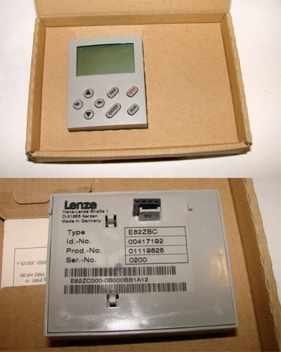 Lenze E82ZBC Id Nr. 00417192 Bedienmodul -unused/OVP-