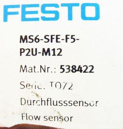 FESTO MS6-SFE-F5-P2U-M12 Nr. 538422 -unused/OVP- – Bild 1