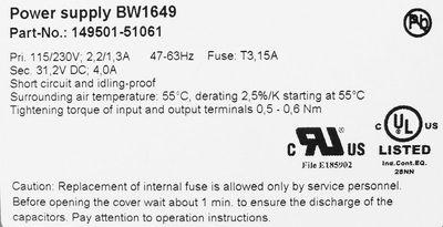 Bihl + Wiedemann B+W BW1649 149501-51061 AS-Interface Power Supply 4A -used- – Bild 2