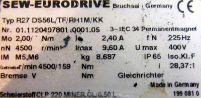 SEW Eurodrive R27 DS56L/TF/RH1M/KK -unused- – Bild 2