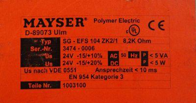 Mayser SG-EFS 104 ZK2/1 Teil-Nr. 1003100 Schaltverstärker -used- – Bild 2