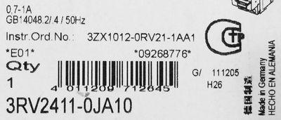 Siemens 3RV2411-0JA10 Leistungsschalter – Bild 2