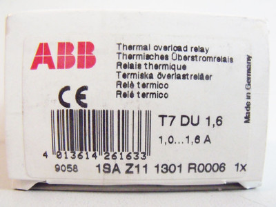 ABB T7DU 1,6 1,0-1,6A Thermal Overload Relay - unused/OVP- – Bild 2