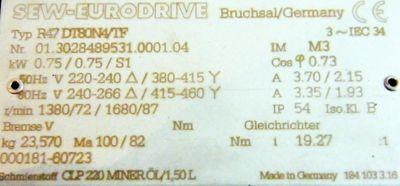 SEW Eurodrive R47 DT80N4/TF – Bild 3