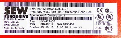SEW EURODRIVE Movidrive MCH42A0150-503-4-0T 8271658 Umrichter 22,2kVA -unused- – Bild 2