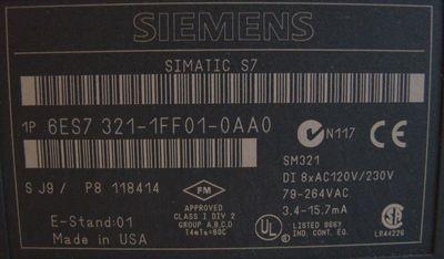 SIEMENS 6ES7321-1FF01-0AA0  6ES7 321-1FF01-0AA0 E-Stand: 1 – Bild 2