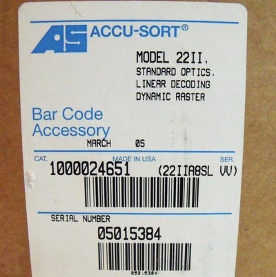 AS ACCU-SORT Laser Bar Code Accessory Scanner 22II -unused/OVP- – Bild 3