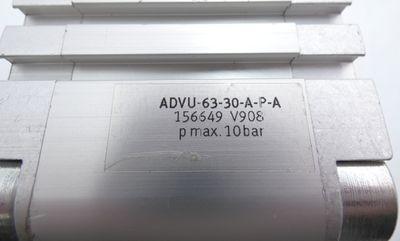 Festo ADVU-63-30-A-P-A ADVU 63 30 A P A ADVU6330APA 156649 Kompaktzylinder-used- – Bild 2