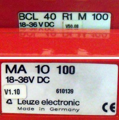 Leuze Lichtschranke BCL 40 R1 M 100 m. Anschlußeinheit MA 10 100 -used- – Bild 3