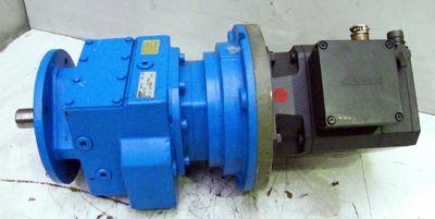 Siemens Servomotor 1 FT 6081-8AF71-6SD3 mit Flendergetriebe ZF 48-K4-(112)  – Bild 1
