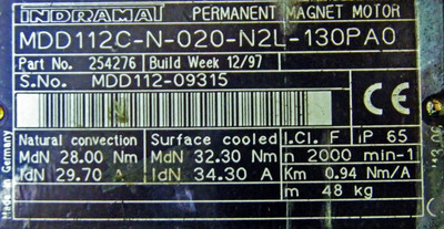 Indramat Servomotor MDD112C-N-020-N2L-130PAO Indramat Rexroth -used- – Bild 3