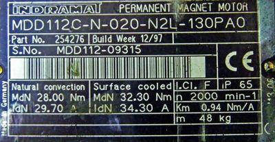 Rexroth Indramat MDD112C-N-020-N2L-130PAO Servomotor MDD112-09315  – Bild 3