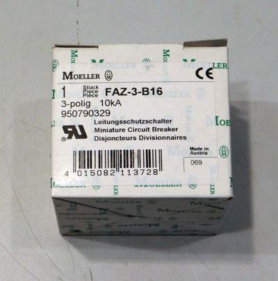 Moeller Leistungsschutzschalter FAZ-3-B16 3-polig 10kA -unused/OVP-