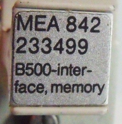 AEG MEA 842 B500-interface, memory – Bild 3