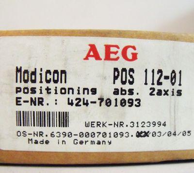 AEG Modicon POS 112-01  – Bild 3