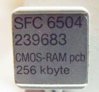AEG SFC 6504 6051-042.239683 CMOS-RAM PCB 256KB -used- – Bild 3