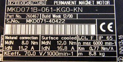 Indramat Servomotor MKDO 71B-061-KGO-KN – Bild 3