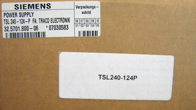 Siemens TracoPower TSL 240-124P 240124P -unused- – Bild 3