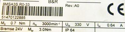 B&R Servomotor 8MSA3S.R0-33 + Memotec Schwerlast-Linearführung SLF-00-S-1605-M/33+50 – Bild 2