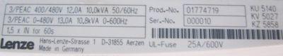 LENZE EVF9325-EVV004 01774719 Frequenzumrichter – Bild 3