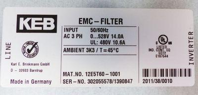 KEB Combivert 12F5C3B-YG1A 6,6kVA + 12E5T60-1001 + 00.F5.060-10100 -used- – Bild 3