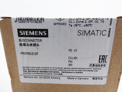 Siemens 6GK1500-0FC10 6GK1 500-0FC10 E-Stand: 01 -unused/sealed- – Bild 3