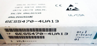Siemens 6ES5470-4UA13  Analog-Output-Module  E-Stand: 01   -sealed - in OVP – Bild 2