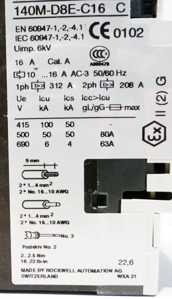 Allen-Bradley 140M-D8E-C16 Serie C -unused/OVP- – Bild 2