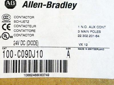 Allen-Bradley 100-C09DJ10 100C09DJ10 24V DC Serie A Schutz Contactor -unused/OVP – Bild 3