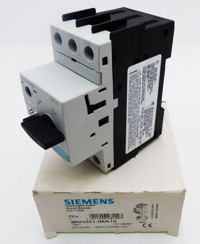 Siemens Sirius 3RV1021-0KA10 3RV 1021-0KA10 E:04 Leistungsschalter -unused/OVP- – Bild 1
