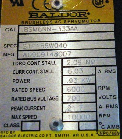 Baldor BSM6NN-333AA Servomotor -unused- – Bild 3