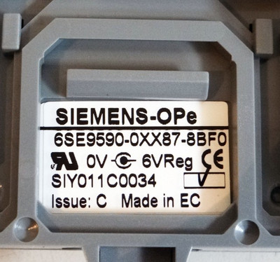 Siemens 6SE9590-0XX87-8BF0 6SE9 590-0XX87-8BF0 Issue: C -unused/OVP- – Bild 2