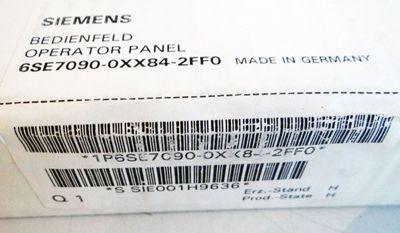 Siemens 6SE7090-0XX84-2FF0 6SE7 090-0XX84-2FF0   E-Stand: H  - sealed - in OVP – Bild 2