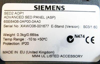 Siemens 6SE6406-0AP00-0AA0  6SE6 406-0AP00-0AA0  E-Stand: B03/1.60  ohne OVP – Bild 2