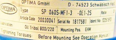 Alpha Getriebe SP 060S-MF1-3-OE1-2S Aufsteckgetriebe -used- – Bild 3