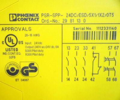 Phoenix Contact PSR-SPP- 24DC/ESD/5X1/1X2/0T5 Order-Nr. 2981130 – Bild 3