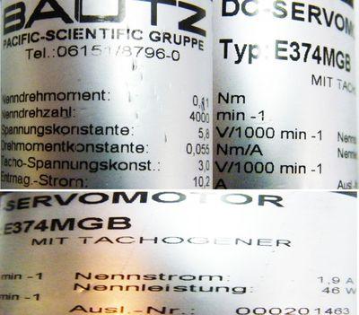 BAUTZ DC-Servomotor E374MGB – Bild 2
