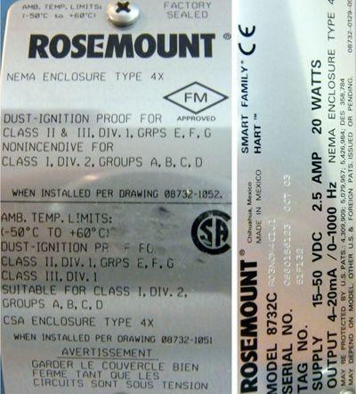 ROSEMOUNT Flowmeter 8732C RO3NOM4CJ1  Durchflussmessgerät – Bild 3
