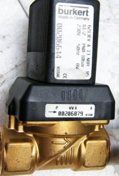 Bürkert  6213EV A 13 NBR MS 2/2 Wege Ventil mit Kühlsystem -unused- – Bild 2