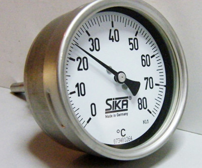 SIKA Präzisions Zeiger Thermometer 302 - unused - – Bild 1