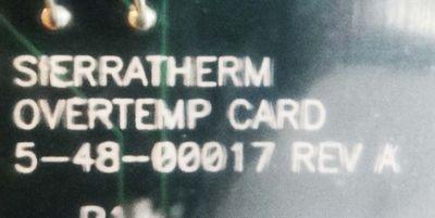 Sierratherm Overtemp Card  5-48-00017  Rev A – Bild 2