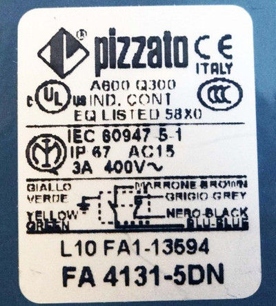 Pizzato FA4131-5DN   FA 4131-5DN   Limitd Switch -used- – Bild 3