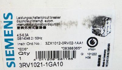 Siemens SIRIUS 3RV1021-1GA10 3RV1 021-1GA10 E-Stand: 06 -unused/OVP- – Bild 4